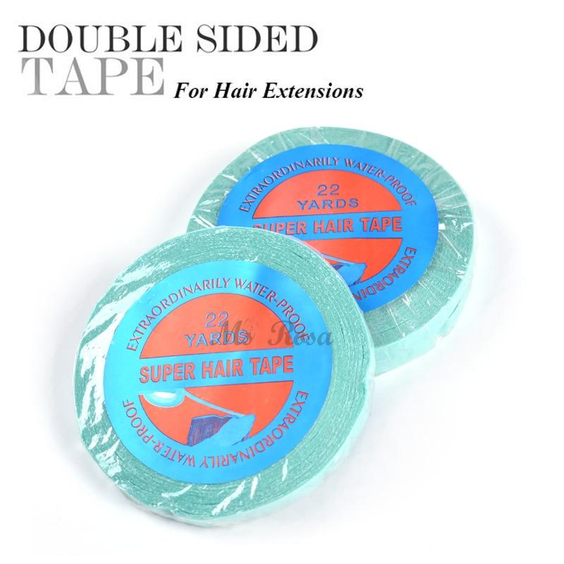Hårlim för snörningspig Supertape självhäftande tejp för hår 1cm x 22 yard snörning perukband och limband tejp hårförlängning