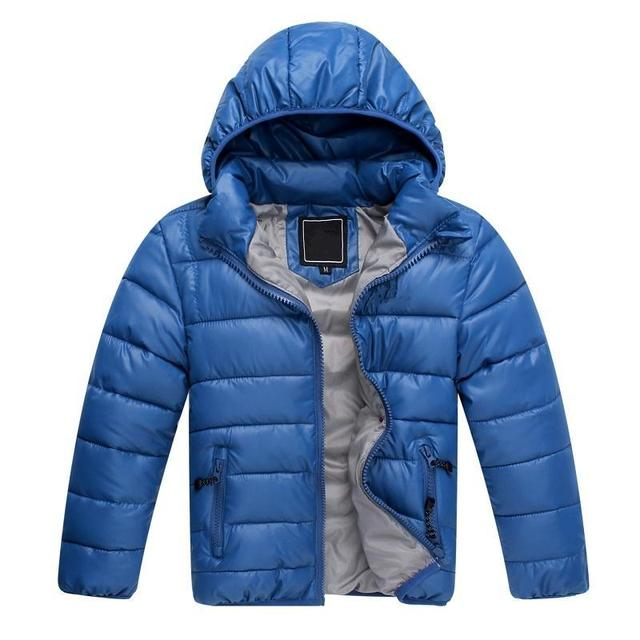 2017 New Free shipping High Quality Retail Childrens Winter Down Jackets Baby Down Coat Boys Outerwear Thickening Retail