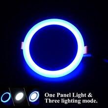 1pcs Hot sales LED Panel Downlight 6W 9W 16W 24W 3 Model Panel Light AC85-265V Recessed Ceiling Lamp Aluminum led Ceiling lamp led 5001 9w 450lux 3 led video lamp dark grey