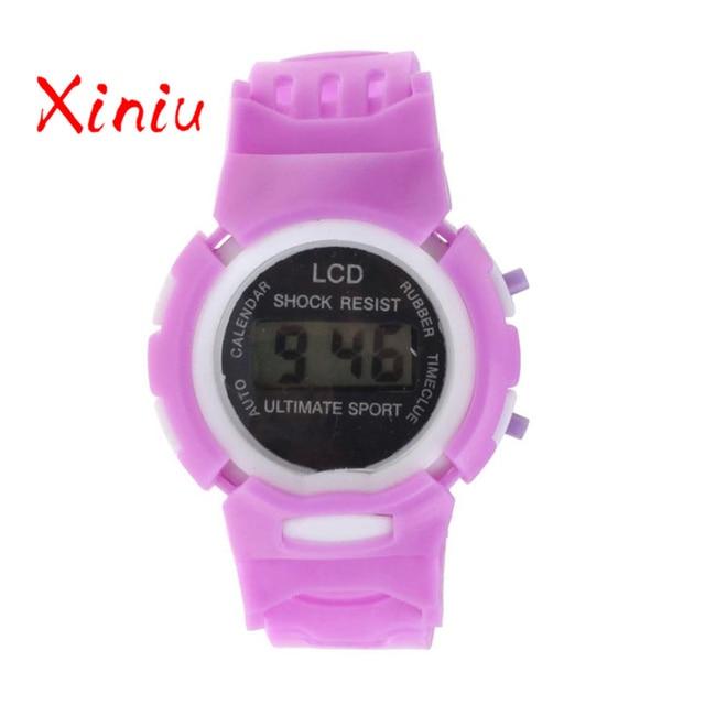 Watch Female 2018 digital wristwatch Boys Girls Students children Watches Electronic Digital LCD Outdoor Sport clock
