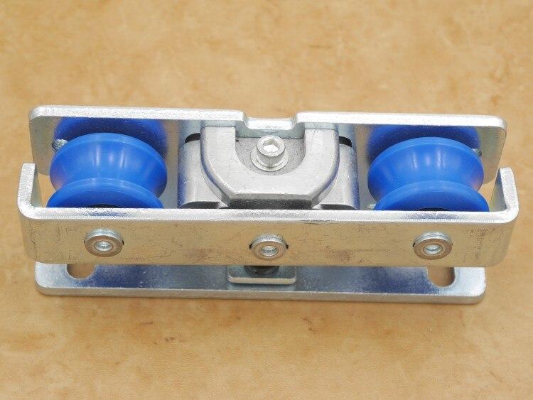 Livraison gratuite poulie de porte automatique opérateur porte coulissante rouleau suspendu automatique porte épandeur capteurs roue matériel partie - 5