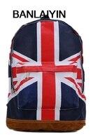 Womens Mens School Book Campus Bag Backpack Satchel UK Flag Pattern