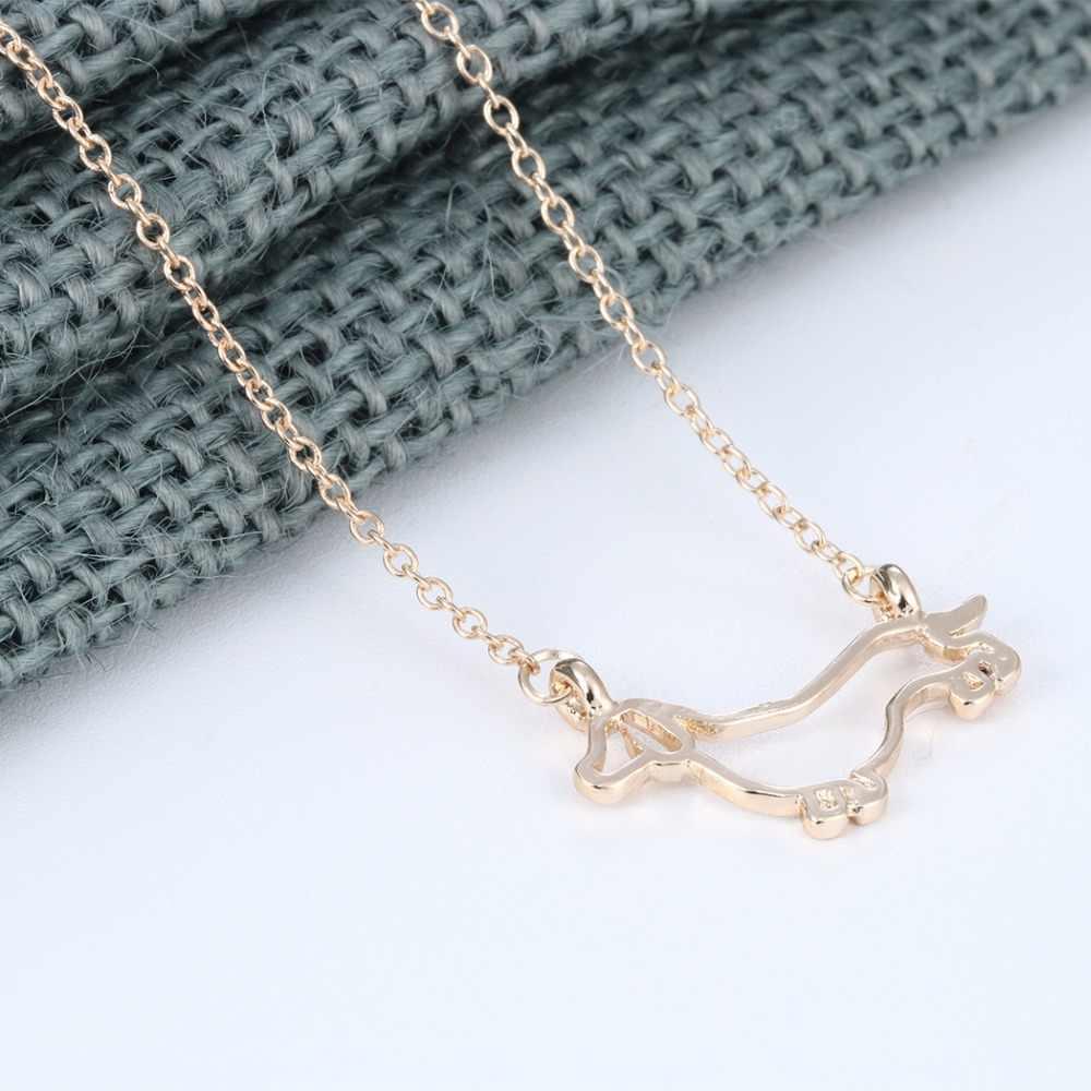 Cxwind mignon petit chiot chien pendentif collier teckel Animal Choker colliers bijoux pour femmes fille déclaration collier de chaîne