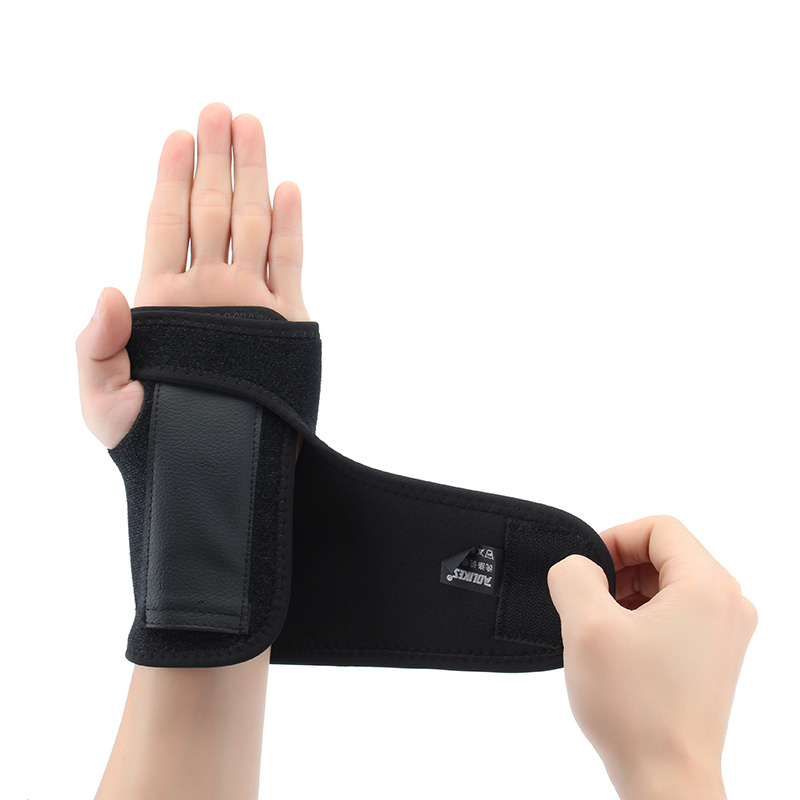 AOLIKES 1pcs Wrist Support Steel Plate Adjustable Wrist Brace Supprots Protection Arm Brace Breathable for Fitness Basketball