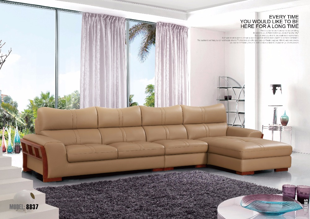 White genuine leather sofa set made in china leather sofa for China sofa design