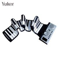 61 Key Electronic Keyboard Piano Flexible Roll Up Electronic Organ with Loud Speaker 61K2 USB Children Toys