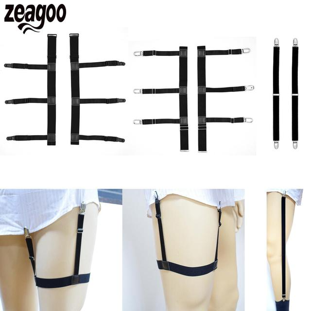 Stays Belt Adjustable Garters Men's Shirt Nylon Suspenders Holders Elastic  shirt garter Belt Stirrup Style sock suspenders garte