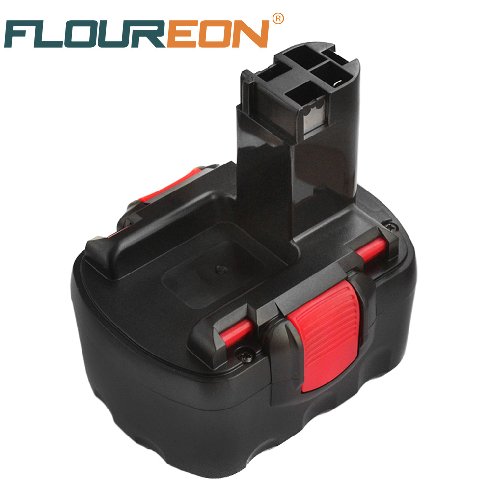 FLOUREON 12V 3000mAh Ni-Mh Rechargeable <font><b>Battery</b></font> for <font><b>Bosch</b></font> GSB <font><b>18</b></font> VE-2 GDS <font><b>18</b></font> V-HT GSR <font><b>18</b></font> VE-2 PSB 18VE <font><b>PSR</b></font> 18VE image
