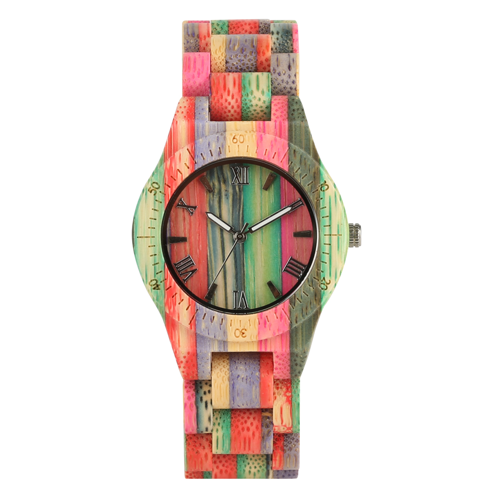Women Quartz Bamboo Watches Wooden Watch for women ladies' watches Handmade Natural Bracelet