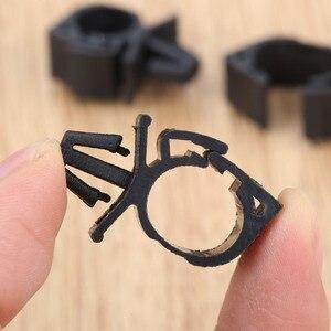 Image 5 - 10Pcs Auto Kabelbaum Verschluss für Alle Auto Auto Route Feste Clips Well Rohr Krawatte Wrap Kabel klemme