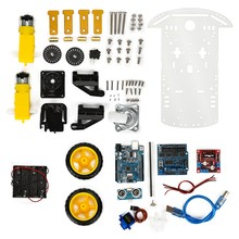 Robot Smart Car Kits UNO R3 Starter Kit for arduino Diy Kit Tracking obstacle avoidance(China)