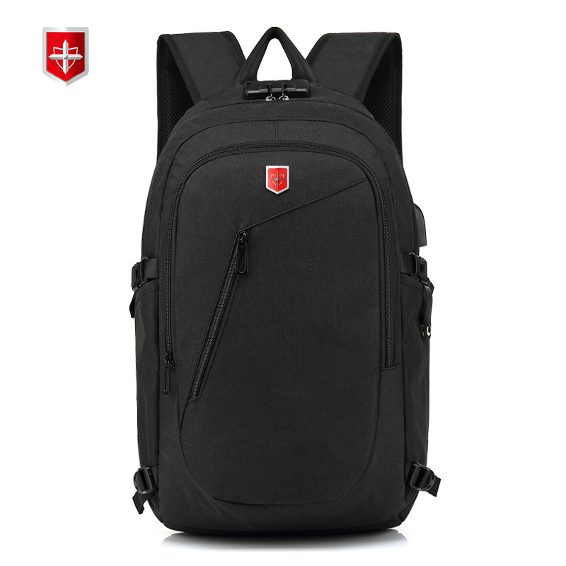 Swiss USB charging Backpack Men Anti theft 15inch Laptop Backpacks School Bags Bagpack for Teenager Fashion
