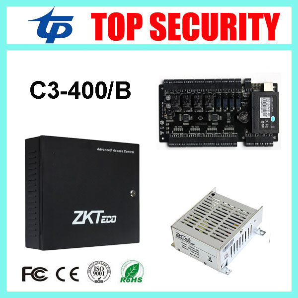 4 doors access control panel TCP/IP C3/400 card access control board with battery function power supply box biometric attendance mmc board sv is5 special water supply control panel