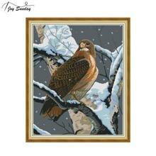 Joy Sunday Falcon Dmc Cross Stitch Kits Sale Aida Canvas Animal Patterns Embroidery Kit DIY Hand Needlework Threads