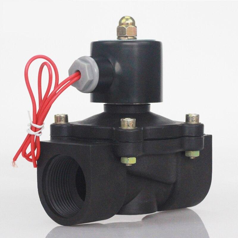 DN08/10/15/20/25/32/40/50 CA 220V cc 12V CC 24V plástico válvula de solenoide normalmente cerrada válvula de conmutación de agua