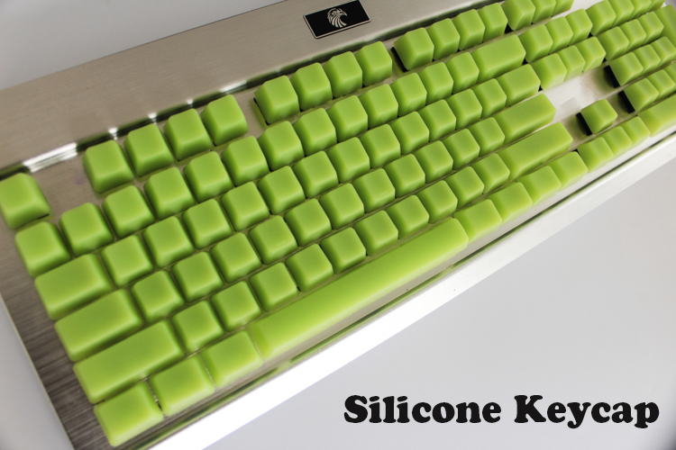 New Arrival 104 Silicone Keycaps Blank Keycaps OEM Height Fos