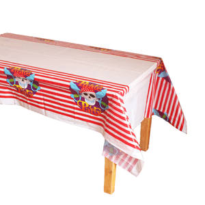 Disposable Plastic Table Clothes Table Cover Tablecloth Waterproof Pirate Striped For Party Decoration And Match Napkin