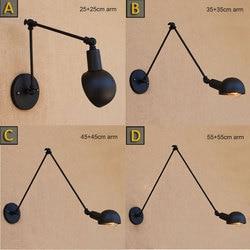 Loft Industrial adjustable <font><b>long</b></font> swing arm Wall lamp Fixture Vintage Edison bulb wandlamp lamparas de pared <font><b>lights</b></font> lampen sconce