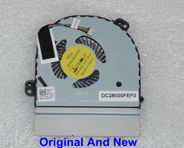 100% Original Notebook CPU Cooler Fan For DELL ALIENWARE 17 RANGER R2 Gaming Laptop Radiator FORCECON DFS200805000T DP/N:07740Y
