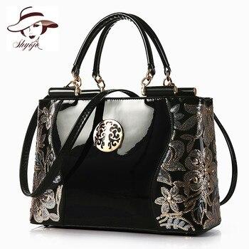 e1b9b93a19fa 2018 Большая вместительная женская сумка модные классические вечерние  деловые сумки-мессенджеры черный кожаный вечерняя сумка женская сумк.