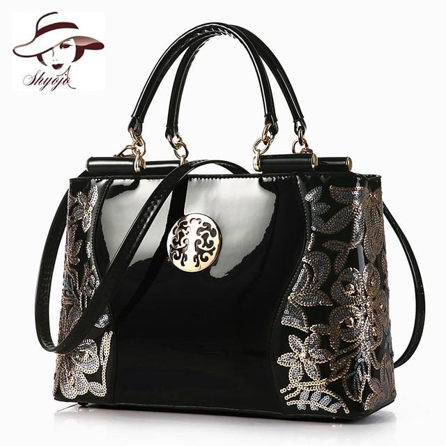 2018 Large Capacity Women Handbag Fashion Classic Party Business Messenger Bags Black Leather Evening Bag Ladies Shoulder Totes