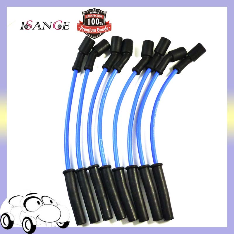 US $34 21 12% OFF|ISANCE Ignition Spark Plug Wire Cable Spiral LS1 LS2 LS3  LS6 LS7 LS9 Set 8 5mm 32819 For Chevrolet Corvette Camaro 5 7L-in Ignition