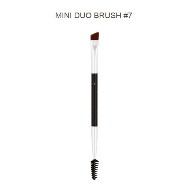 Professional Dual Sided Duo Brow Brush 12# 15# 7# 20# Eyebrow Enhancer Angled Eyebrow Brush + Comb Beauty Makeup Tool 1PCS 1