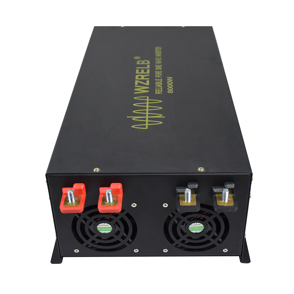 8000W Pure Sine Wave Inverter 24V 230V Generator Inverter Solar System DC to AC Converter 12/48V to 120/220/240V Remote Control