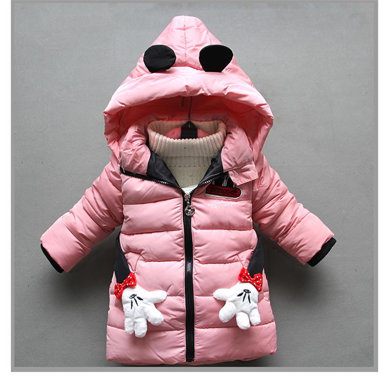 aa6e47068 BibiCola 2018 girls jackat winter new fashion cartoon hoodie coats ...