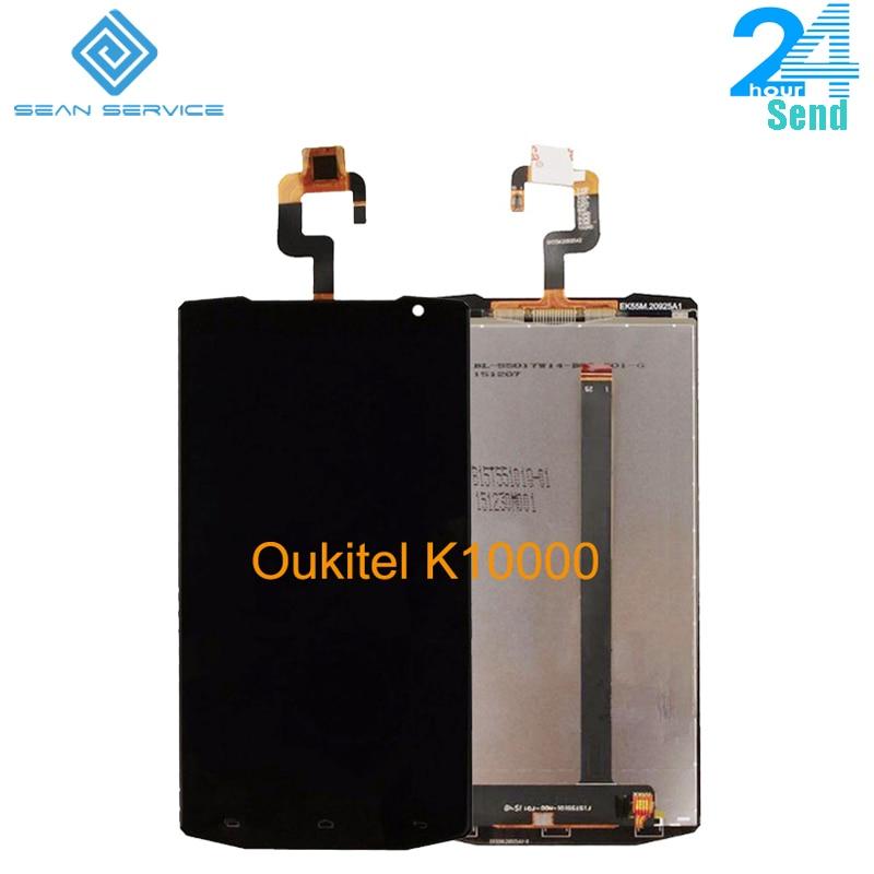 Para original oukitel k10000 display lcd e tp tela de toque digitador assembléia lcds + ferramentas 5.5