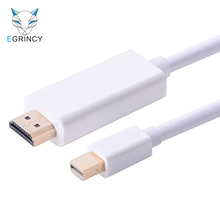 Mini DP To HDMI Cable Male To Male Thunderbolt DisplayPort To HDMI Adapter Converter 1080P For Macbook Pro Air Projector Camera