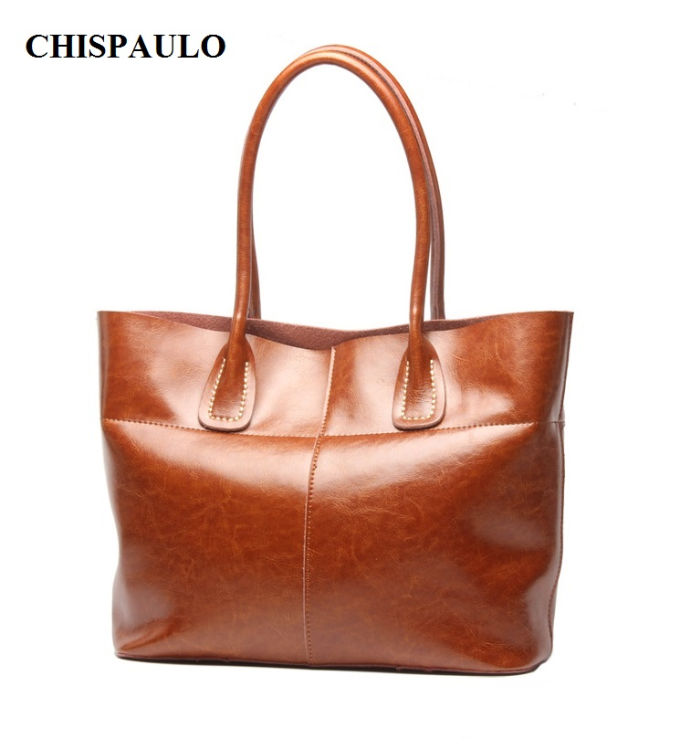 CHISPAULO  Real Leather Handbags Vintage Women Genuine Leather Handbags Famous Brand Women Messenger Bags Bolsa Femininas T304 chispaulo 2017 women genuine leather handbag small new famous brands summer handbags high quality tote bag bolsa femininas c166