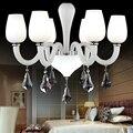 Современные светодиодные красные хрустальные люстры  лампы  люстры для гостиной  столовой