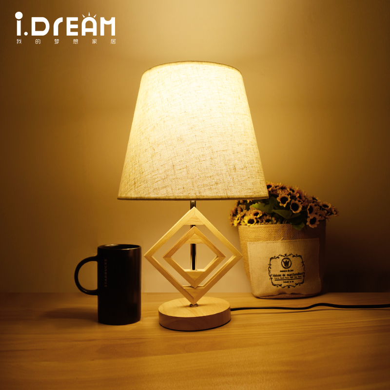 IDERAN Wooden lamps Desk Lamp  Table Lamp Indoor lights  Modern latest design Flexible Memory Function  Color Grain Reading art deco desk lamps 1 e27 bulbs 40w wooden reading lights free shipping