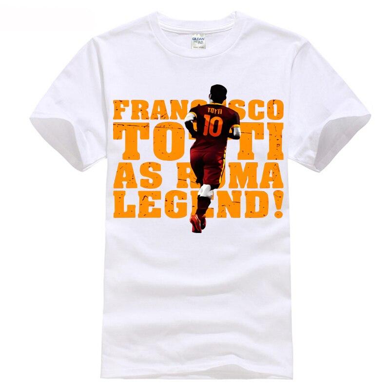 Старик Totti Roma Легенда Футболка плеер футболист европейских программ Игры № 10 Золото ...