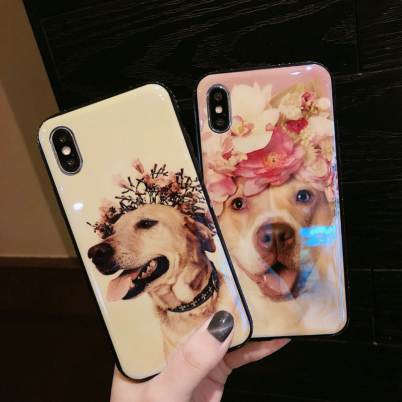 FUNM'OB <font><b>Blu-Ray</b></font> Phone Case for iPhone 7 Case for iPhone 6 6S 8 Plus X Fashion Cute Wedding Bridesmaid Dog Golden <font><b>Retriever</b></font> Funda
