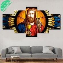 5 шт. Иисус церковь окно живопись на холсте стены искусства картина художественный декор плаката  Лучший!