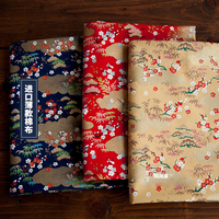 Import pure cotton Chinese bronzing clothing diy hand made cloth plum bamboo leaves cloth