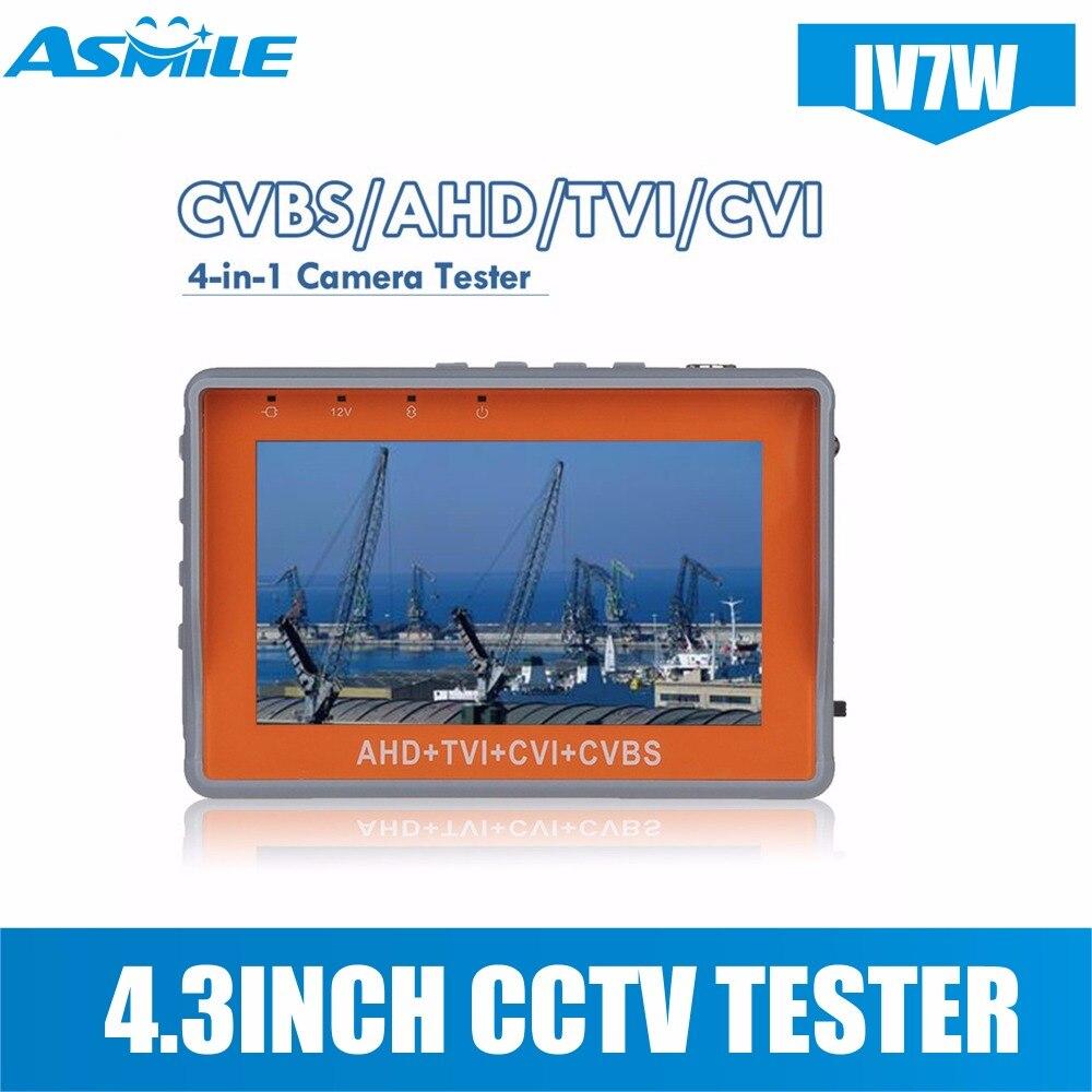 IV7W 4,3 дюйма CCTV AHD TVI CVI Тестер монитор с видеонаблюдения Тестер монитор с 4,3 дюйма Экран 5V2A 12v1A