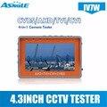 IV7W 4 3-дюймовый CCTV AHD TVI CVI Тестер монитор с CCTV безопасности тестер монитор с 4 3-дюймовым экраном 5V2A 12v1A