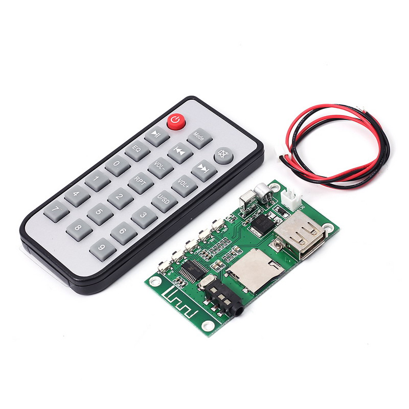 KCX_BT001 Bluetooth Audio Receiver Module Wireless Lossless Bluetooth 4.2 MP3 Decode Board with Remote Control