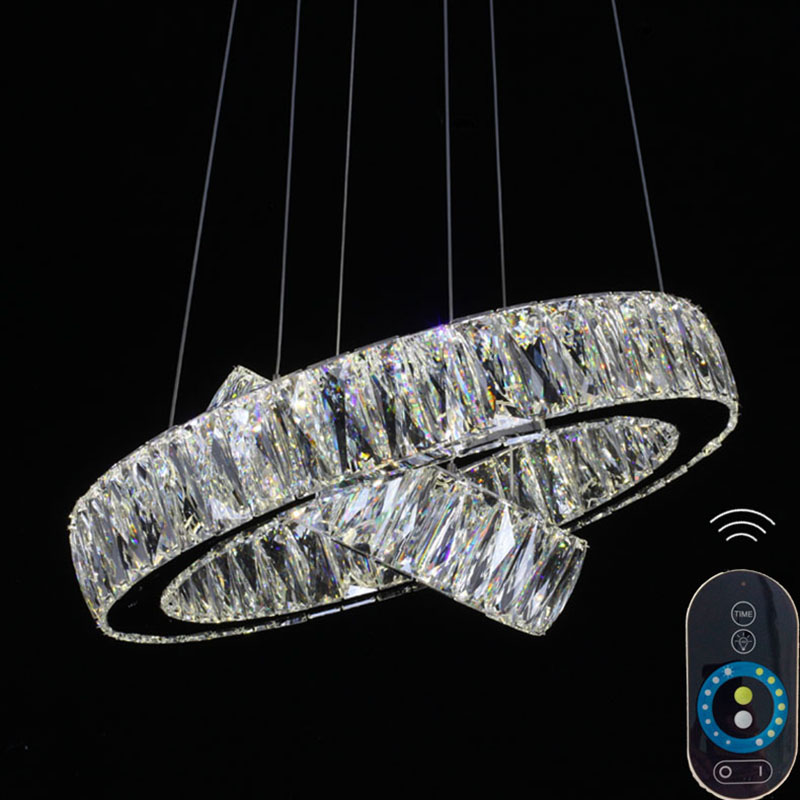 Dimmable New Modern Crystal Hanging Lamps Creative Crystal Pendant Lamp Luxury Bedroom Living Room LED Ceiiling Light VALLKIN black white creative pendant light ac220v 110v e27 metal modern led lamp pendant light lamp dia32x24cm hanging lamps for bedroom