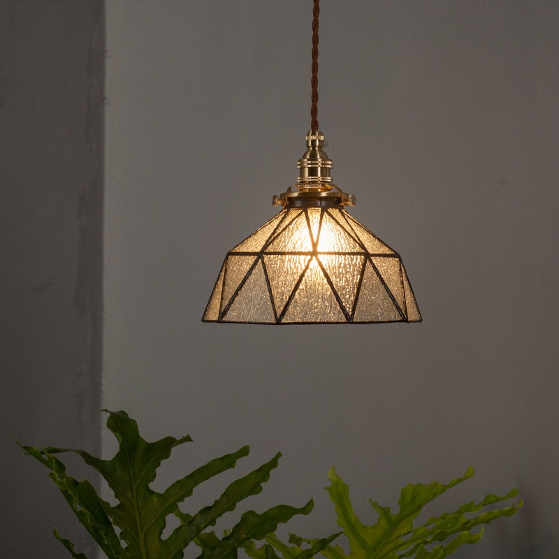 Loft Style Industrial Vintage Pendant Light LED Copper Glass Hanging Lamp Home Dining Room Lights Pendant Lighting Luminaire new chinese style vintage pendant lights wood and bamboo for dining room hotel hall home loft led pendant lamp light ac110v 220v