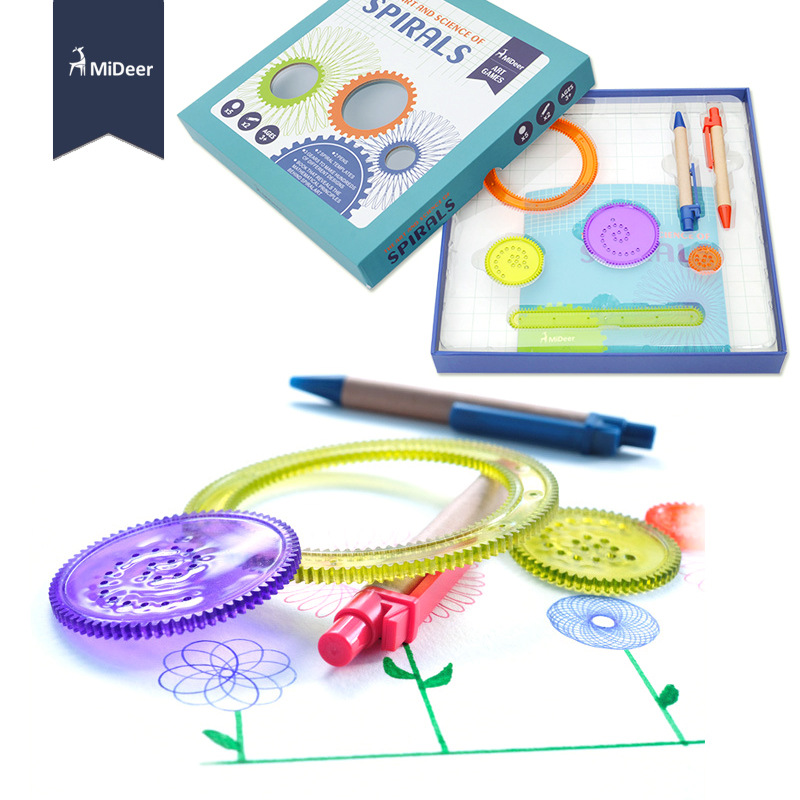 mideer children drawing toys the art and science of spirals art games pens gears book templates - Children Drawing Books