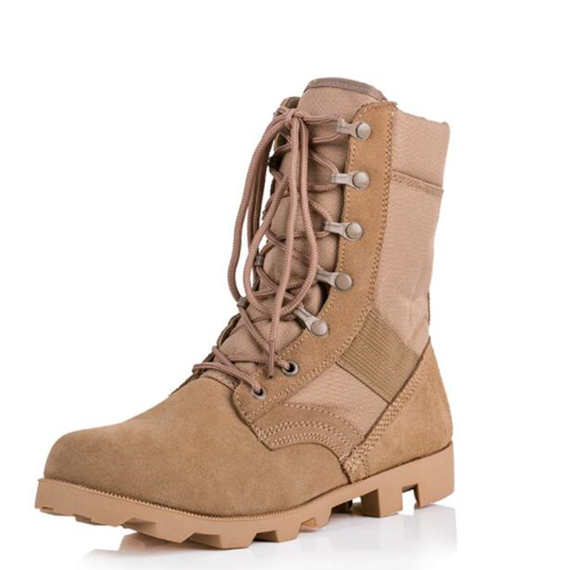 New Men Combat Tactical Boots Military Boots Climbing Wearable Boots Breathable