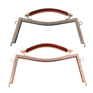 THINKTHENDO New Fashion 1PC Metal Frame Clasp Lock For Sewing Coin Purse Bag Accessories DIY 20.5cm