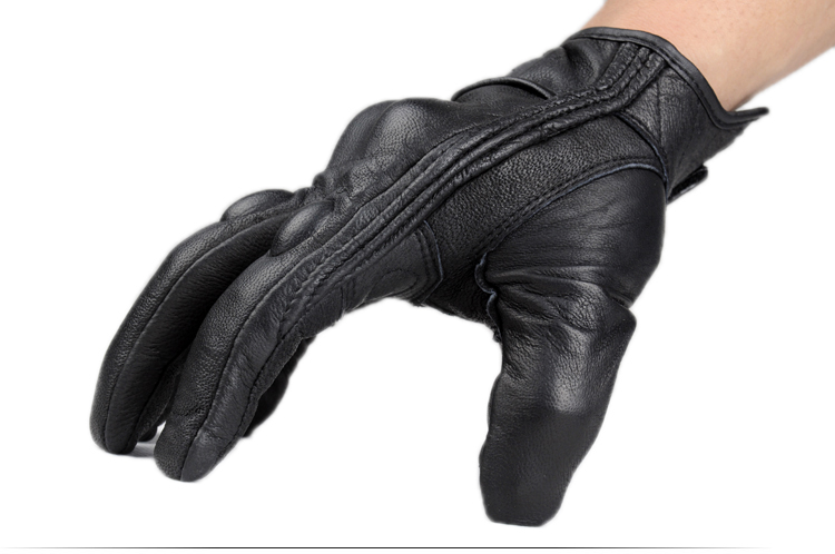 купить Motorcycle off road racing rider anti touch screen leather gloves дешево