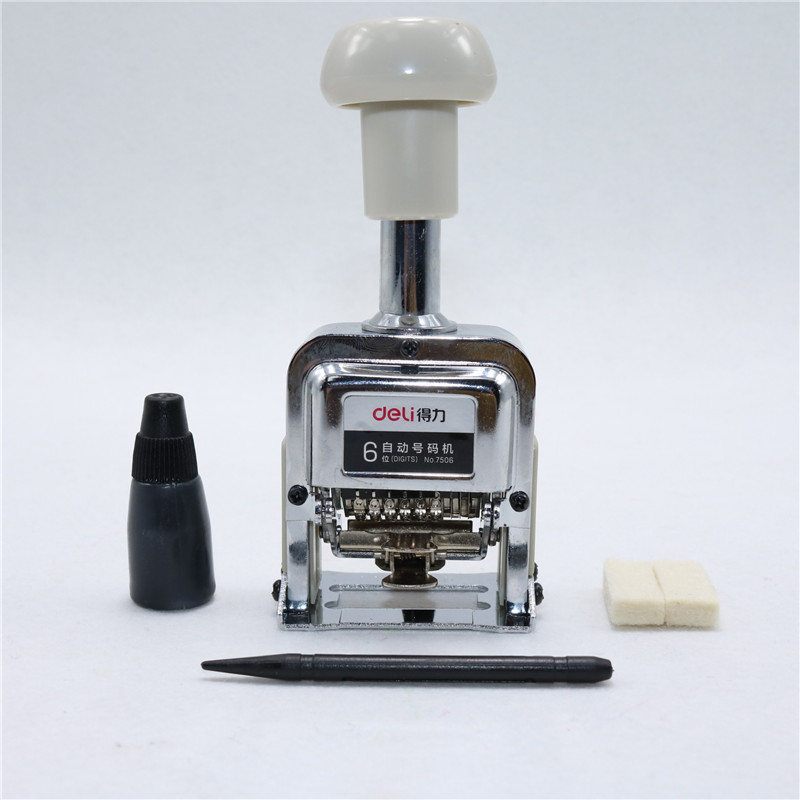 1 Pcs Number Machine 6 Position Automatic Numbering Machine Into The Number Coding Page Chapter Marking Machine Digital Stamp