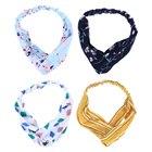 ①  Пакет из 4 женщин повязки на голову эластичный крест повязка на голову ленты для волос головные убор ★