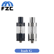 Original innokin isub tanque 4.5 ml sub ohm atomizador vaporizador de vidrio de acero inoxidable completo flujo de aire ajustable isub g